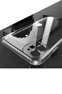 """Iphone 11 6.1"""" Uyumlu Kılıf 3d Tıpalı Kamera Korumalı Şeffaf Silikon Kapak"""