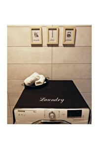 Siyah Laundry Çamaşır Makina Örtüsü