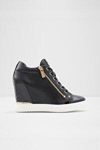 Kadın Siyah Fermuarlı Trıxıe Sneaker