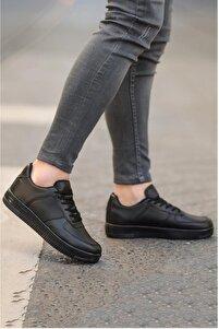 Unisex Siyah Spor Ayakkabı Sneakers