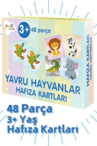 "Hafıza Kartları 48 Parça 3 Yaş ""yavru Hayvanlar"""