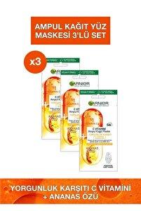 C Vitamini Ampul Kağıt Maske 3'lü Set