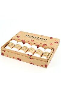 Premium 6'lı Bambu Patik Kadın Çorap - 6 Çift Beyaz