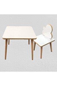 Yaz Sil Yüzey Çocuk Masa Sandalye Takımı 1 Sandalye 1 Masa Sürpriz Hediye