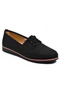 Kadın Siyah Günlük Babet Özel Numara Ayakkabı