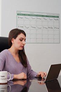 Aylık Planlayıcı Yapışkansız Tutunan Akıllı Kağıt Yazı Tahtası Sticker & Silgili Tahta Kalemi