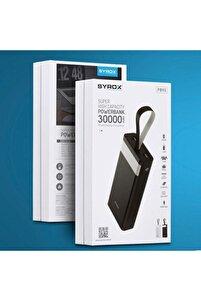 J-143 Pb115 Beyaz 30.000 Mah Digital Göstergeli Powerbank Yedek Batarya Pb115 Renk Beyaz