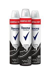 Kadın Deodorant Sprey Invisible Black + White 200 ml X3