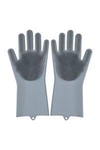 Magic Gloves Sihirli Bulaşık Eldiveni Mutfak Banyo Temizleme Fırçası Oto Ev Işkarışı Renk