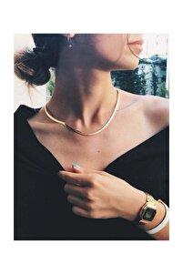 Kadın Gold Italyan Zincir Kolye Renk Atmaz Altın Kaplama