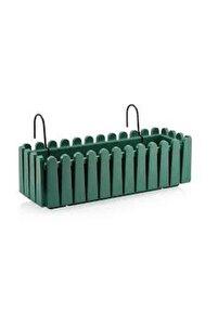 Balkon Çit Saksı Askılı Yeşil 9 Lt.