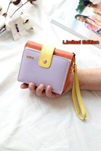 Kadın Lila Limited Edition Large Renkli Cüzdan Mix