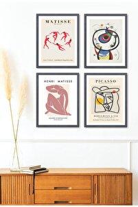 4 Lü Poster Set Matisse Joan Miro Pablo Picasso