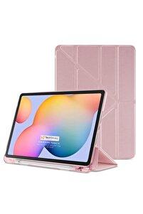 Galaxy Tab S6 Lite Uyumlu Origami Kalem Bölmeli Pu Deri Arkası Yumuşak Silikon Nezih Case Kılıf