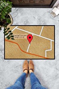 Pienso Home Hedefinize Ulaştınız Dekoratif Kapı Önü Paspası