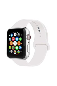 Apple Watch Uyumlu Kordon 2 3 4 5 Seri 42 Mm Ve 44 Mm Silikon Kordon Kayış