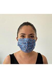 10 Adet Desenli Maske 3katlı Burun Telli