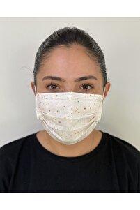 10 Adet Desenli Baskılı 3katlı Burun Telli Maske