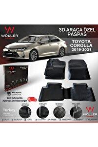 Toyota Corolla Paspas 2019 Sonrası 3d Havuzlu Paspas