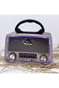 Eskitme Nostalji Tasarımlı Bluetoothlu Nostalji Radyo Fm-sd Kart-aux