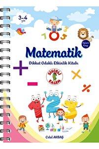 Matematik - Dikkat Odaklı Etkinlik Kitabı 3-4 Yaş