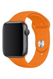 Watch 1 2 3 4 5 6 Se 44 Mm Silikon Ayarlanabilir Turuncu + Popsocket