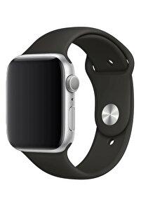 Watch 1 2 3 4 5 6 Se 44 Mm Silikon Ayarlanabilir Siyah + Popsocket