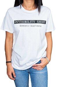 Invisibility Shirt Yazılı Siyah T-shirt