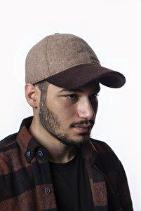 Unisex Kahverengi Kışlık Kaşe Kumaş Beyzbol Şapka Kep