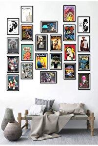 22 li Poster Set Marilyn Monroe Küçük Prens Pink Freud We Can Do It Retro Godfather  17,5 X 25 cm