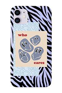 Iphone 11 Uyumlu Zebra Who Cares Desenli Premium Lansman Kılıf