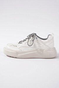 65041 Kadın Spor Ayakkabı Beyaz Cilt