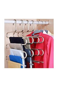 Metalik Dolap Içi Akıllı Krom Askı Pantolon Askısı