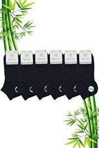 Bambu Erkek Premium Patik Lacivert Çorap 6'lı Set