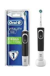 Vitality 100 Cross Action Siyah Şarjlı Diş Fırçası