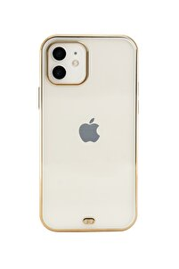 Iphone 11 Premium Electrolize Silikonlu Beyaz Telefon Kılıfı