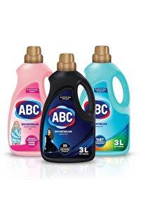 Özel Sıvı Deterjan Bakım Seti 3 lt Siyahlar + Renkliler + Narinler 3'lü Set