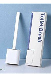 Beyaz Silikon Tuvalet Fırçası Bükülebilir Silikon Wc Klozet Fırçası