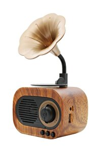 B5 Nostaljik Mini Radyo Gramofon Bluetooth/radyo/usb/sd Speaker