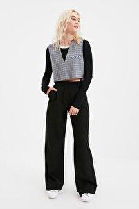 Siyah Bol Paça Pantolon TWOAW21PL0076