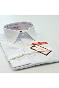 Beyaz Uzun Kollu Erkek Gömlek 9274s