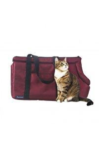 Kırmızı Kedi Taşıma Çantası Orta Boy Uçak Için Uygun Omuz Çantası