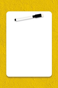 ® Easyboard Kararmaz Beyaz Yazı Tahtası - A4 (21cm X 29.7cm)