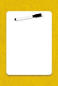 ® Easyboard Kararmaz Beyaz Yazı Tahtası - A5 (14.8cm X 21cm)