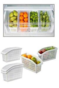 4 Adet Buzdolabı Içi Düzenleyici Dolap Içi Düzenleyici Organizer
