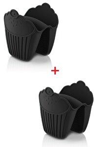 Silikon Fırın Eldiveni Tutucu Isı Yalıtımlı Kaymaz Mikrodalga Fırın Tencere Tepsi Tutmaç Seti 2 Adet