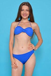 Kadın Lacivert Straplez Destekli Bikini