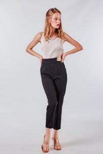 Kadın Siyah Kemerli Pantolon