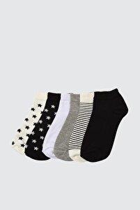 6'lı Çok Renkli Paket Örme Çorap TWOAW21CO0048