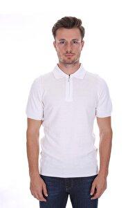 Polo Yaka Erkek Triko T-shirt Beyaz White 2117702